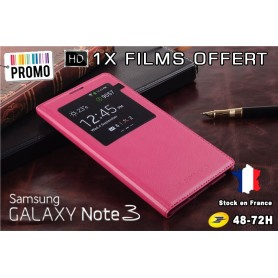 Etui S-View Cover Galaxy Note 3 Fuchsia