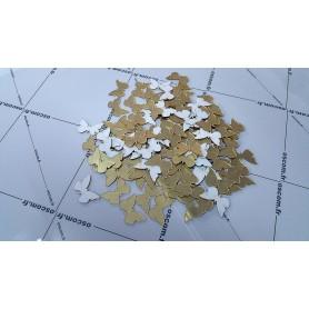 Or & Doré 100 Pièces 3x2 cm 3D Stickers Papillon Acrylique Décoration Maison 3d
