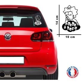 """Stickers """"Bébé à bord 5"""" 14x10 cm Couleur Noir Promo Fabrique en France"""