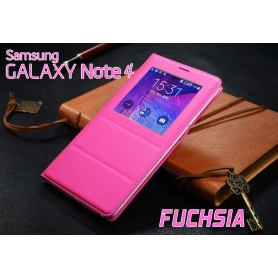 Housse Etui Flip S View Fuchsia Samsung Galaxy Note 4
