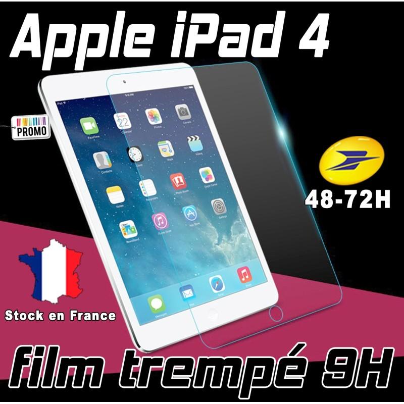 Film De Protection Ecran Verre Trempe Renforce Apple Ipad 4 Film