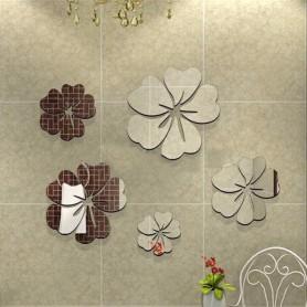 25 Pétales 3D Acrylique Stickers Hibiscus Miroir Décoration Mural Fleurs Maison Butterfly 3d