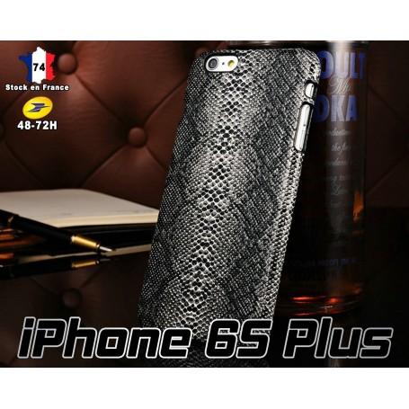 Housse Etui Coques Motif Serpent Noir Apple iPhone 6S Plus