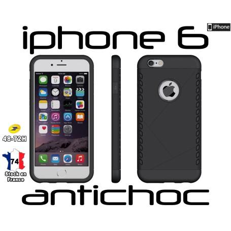 Coque iPhone 6 Noir Slim Armor Robuste Hybride Housse Antichoc