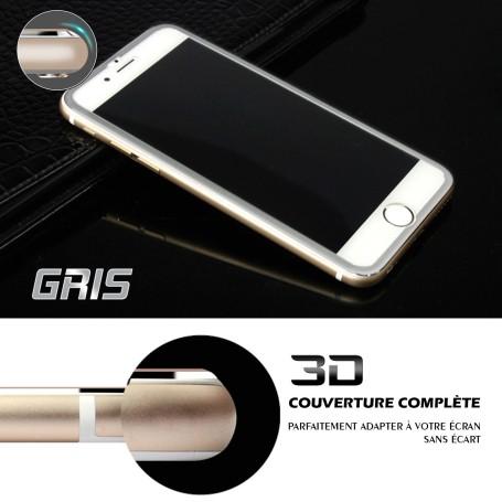 iPhone 6s Film 3D Edge Verre Trempe Gris Full Coverage Titanium Séries