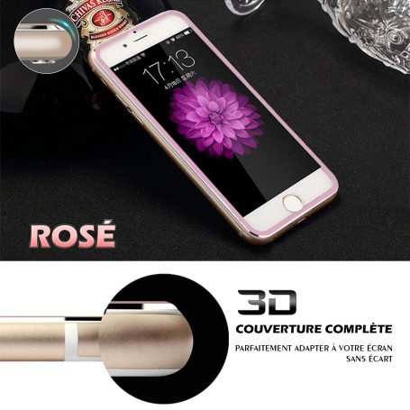 iPhone 6s Film 3D Edge Verre Trempe Rosé Doré Full Coverage Titanium Séries