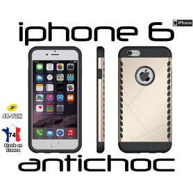 Coque iPhone 6 Doré Slim Armor Robuste Hybride Housse Antichoc