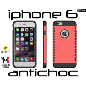 Coque iPhone 6 Rouge Slim Armor Robuste Hybride Housse Antichoc
