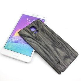 Noir Batterie Cache Design Bois Samsung Galaxy Note 4 SM-N910F