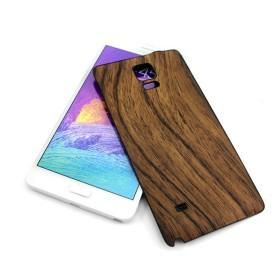 Brun Batterie Cache Design Bois Samsung Galaxy Note 4 SM-N910F