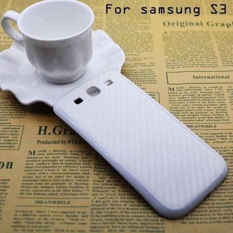 Batterie Cache Arriéré Motif Fibre Carbone Samsung Galaxy S3
