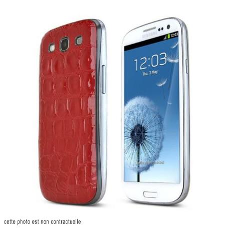 Arriéré Cache Batterie Alligator Motif Samsung Galaxy S3 Cover Battery
