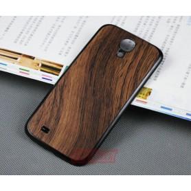 Batterie Cache Arriéré Motif Bois Brun Pour Samsung Galaxy S4
