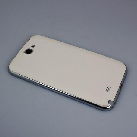 Batterie Cache Arriéré Motif Litchi Blanc Pour Samsung Galaxy Note 2