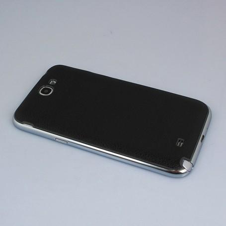 Batterie Cache Arriéré Motif Litchi Noir Pour Samsung Galaxy Note 2