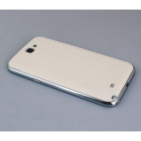 Batterie Cache Arriéré Fibre Carbone Blanc Samsung Galaxy Note 2 Back Cover
