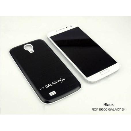 Batterie Cache Arriéré Alu Brosse Noir Pour Samsung Galaxy S4