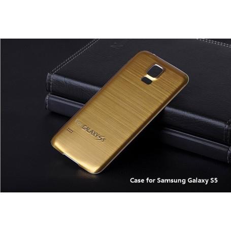 Batterie Cache Arriéré Alu Brosse Doré Pour Samsung Galaxy S5