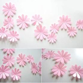 12 Pièces 3D Stickers Fleur Pvc Design 10 Pétales Rose Décoration Maison