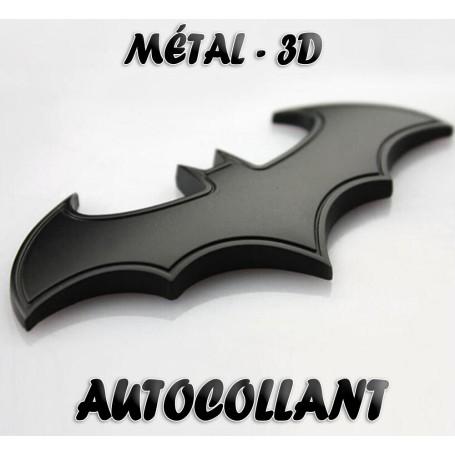 Métal Bat Man badge Noir autocollant de voiture de moto 3D Étiquette d'insigne d'emblème
