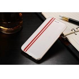 "Etui Stand Simili Cuir Blanc Iphone 6 4,7"""