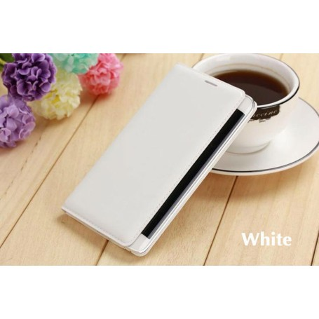 Etui Flip Cover Blanc pour Samsung Galaxy Note Edge