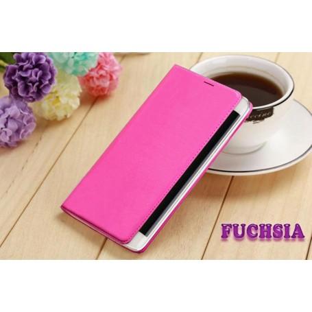 Etui Flip Cover Fuchsia pour Samsung Galaxy Note Edge