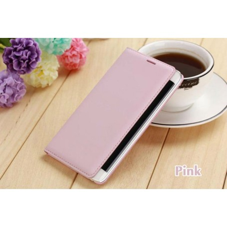 Etui Flip Cover Rose pour Samsung Galaxy Note Edge