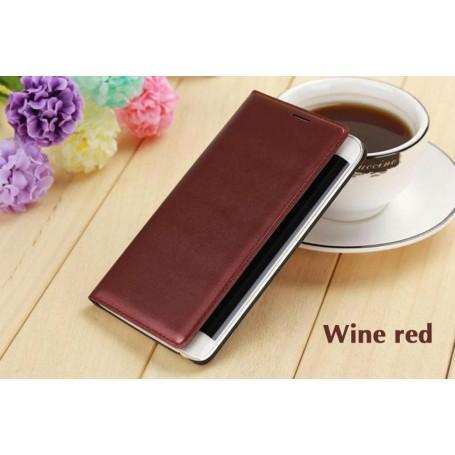 Etui Flip Cover Rouge Vin pour Samsung Galaxy Note Edge