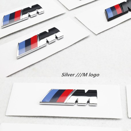 2 pcs Argent M Performance logo emblème badge BMW E36 E39 E46 E90 E60 E30 E34 F10 F20 F30