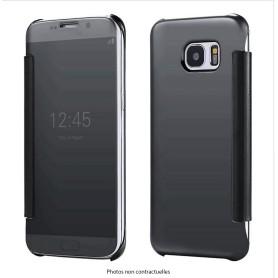 KISSCASE Étui NOIR Clear view pour Samsung Galaxy S8 Plus Flip Étuis Cover ultra fin
