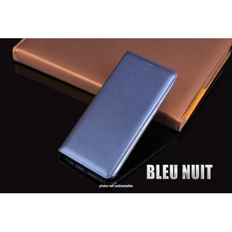 Housse Etui Flip Cover BLEU NUIT Pour Samsung Galaxy S7 SM-G935 SM-G930