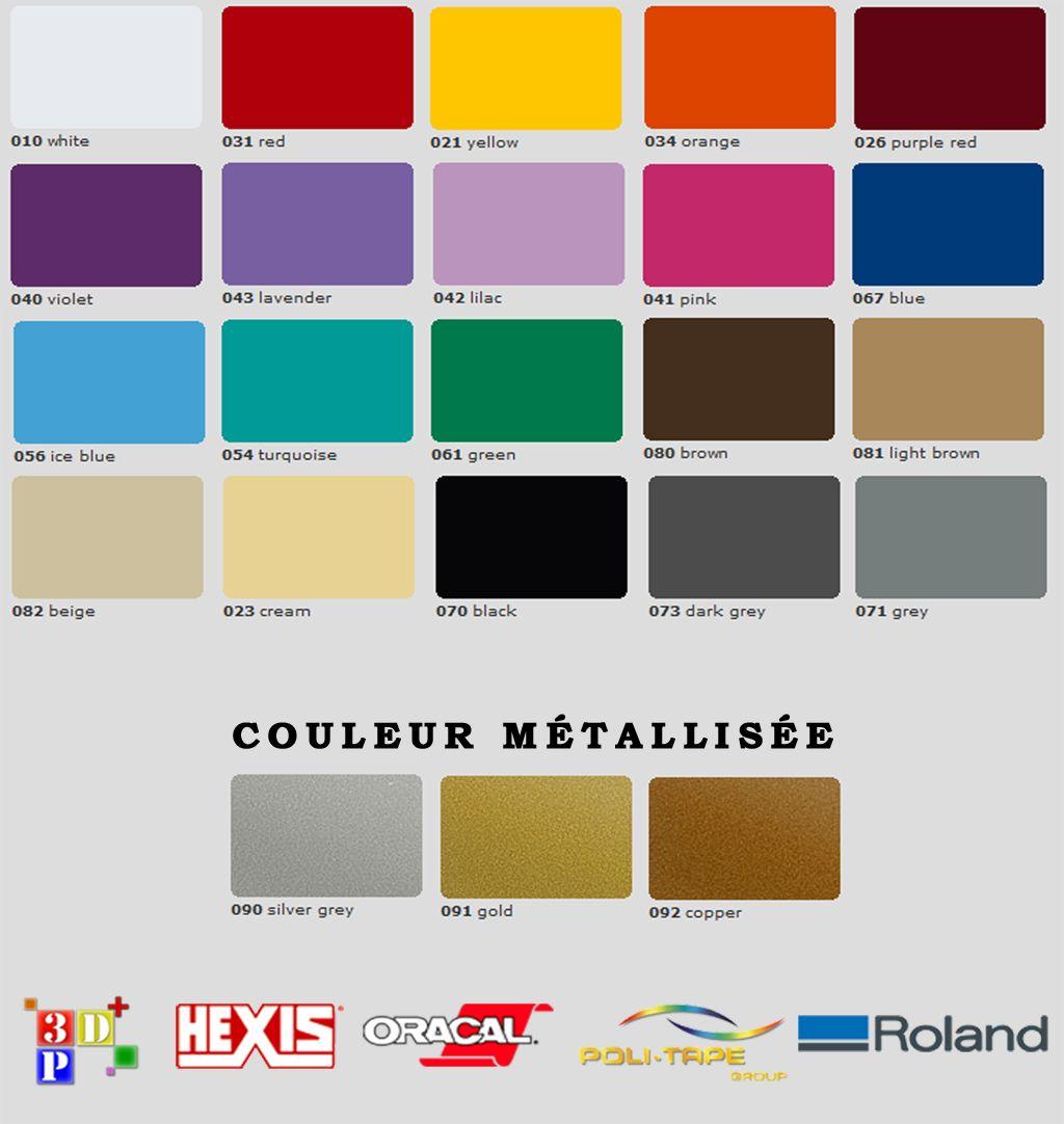 Nuancier - Catalogue Couleur Vinyle Oracal