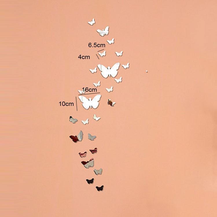 30 Pièces 3D Stickers Papillon Acrylique Miroir Décoration Maison Acrylic Butterfly 3d
